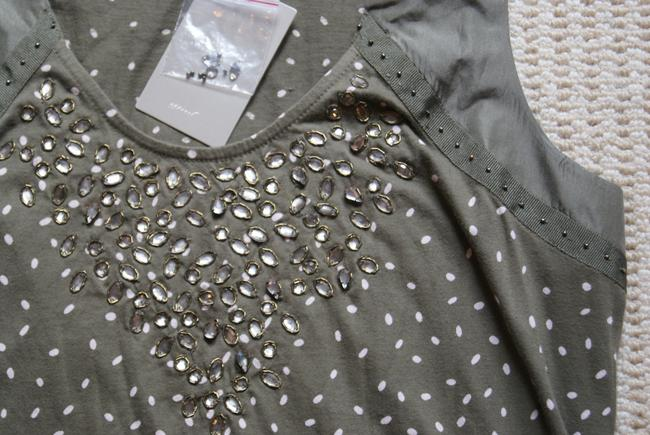 Anthropologie Jeweled Top olive