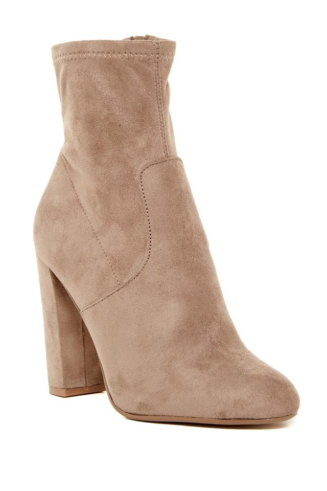 Ladies Steve Hot Madden Taupe Velvet Boots/Booties Hot Steve sale a1cb73