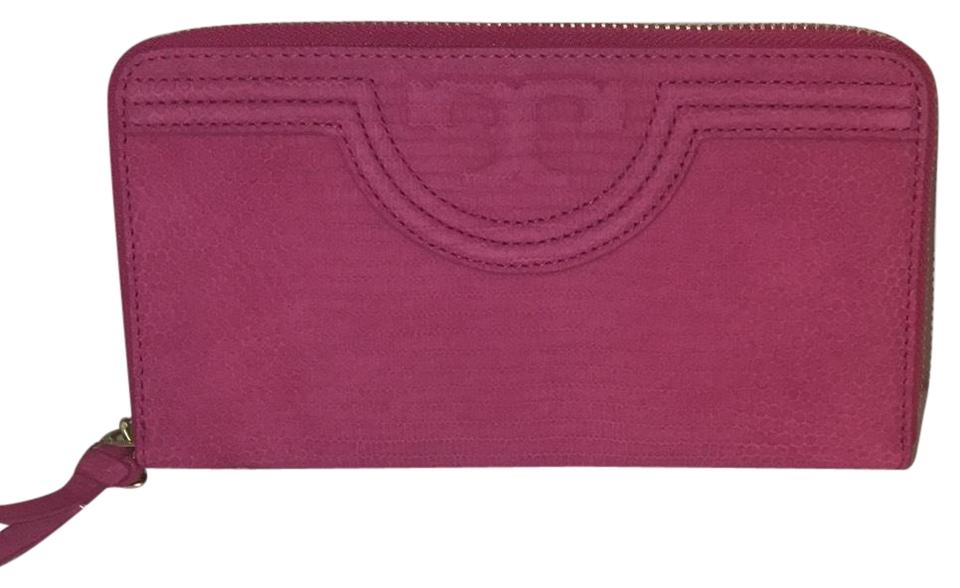 45d39750954 Tory Burch Hibiscus Flower Zipped Around Wallet - Tradesy