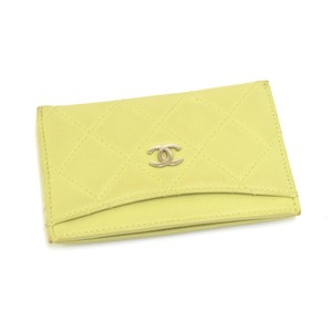 Chanel Chanel Lime Green Leather Card Case