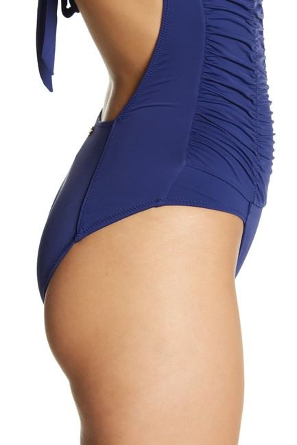 DESPI Ruched Strapless One-Piece Swimsuit Image 1