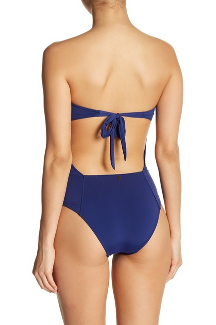 DESPI Ruched Strapless One-Piece Swimsuit Image 2