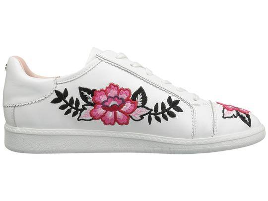 Kate Spade Sneakers Embroidered Leather Sneaker Floral Sneaker Flat white Athletic Image 1