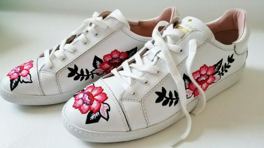 Kate Spade Sneakers Embroidered Leather Sneaker Floral Sneaker Flat white Athletic Image 2