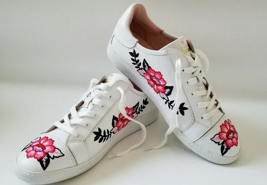 Kate Spade Sneakers Embroidered Leather Sneaker Floral Sneaker Flat white Athletic Image 3