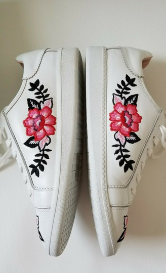 Kate Spade Sneakers Embroidered Leather Sneaker Floral Sneaker Flat white Athletic Image 5