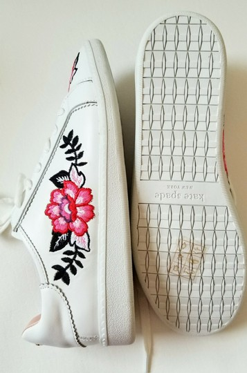 Kate Spade Sneakers Embroidered Leather Sneaker Floral Sneaker Flat white Athletic Image 6