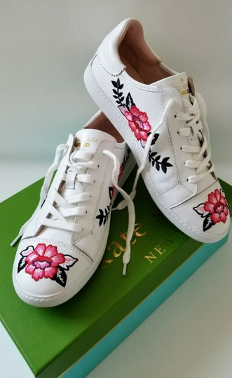 Kate Spade Sneakers Embroidered Leather Sneaker Floral Sneaker Flat white Athletic Image 7