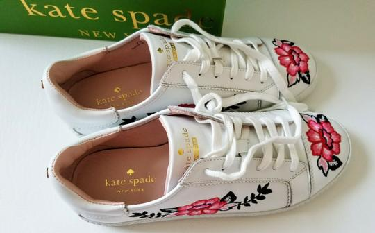 Kate Spade Sneakers Embroidered Leather Sneaker Floral Sneaker Flat white Athletic Image 8