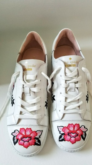 Kate Spade Sneakers Embroidered Leather Sneaker Floral Sneaker Flat white Athletic Image 9