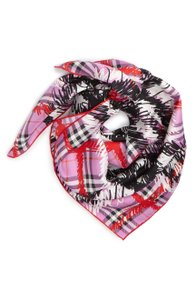 Burberry New Burberry Scribble Vintage Check Silk Square Scarf
