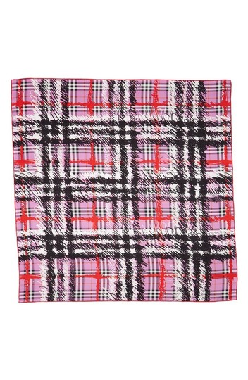 Burberry New Burberry Scribble Vintage Check Silk Square Scarf Image 1