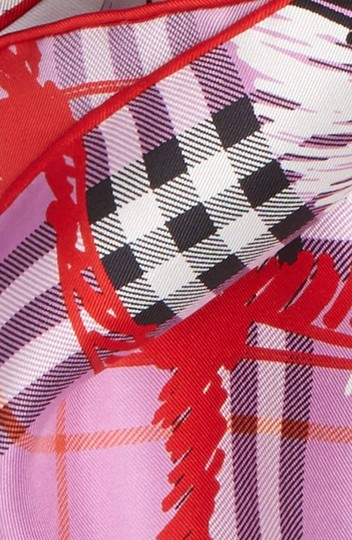 Burberry New Burberry Scribble Vintage Check Silk Square Scarf Image 2