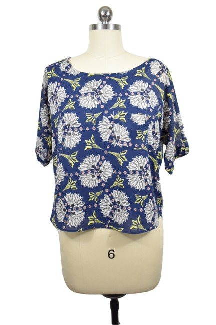 Preload https://img-static.tradesy.com/item/23209303/anthropologie-blue-meadow-rue-floral-blouse-size-2-xs-0-0-650-650.jpg