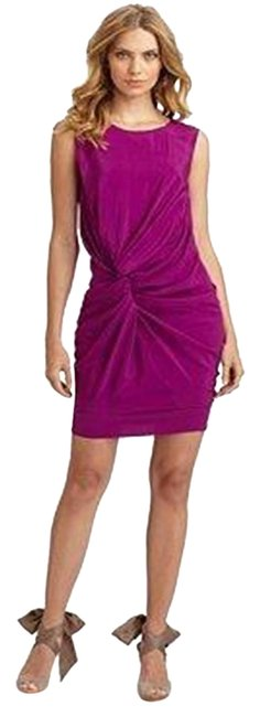Item - Violet Dvf Alastrina Sleeveless Knot Draped Silk Short Night Out Dress Size 0 (XS)