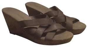 Old Navy taupe Wedges