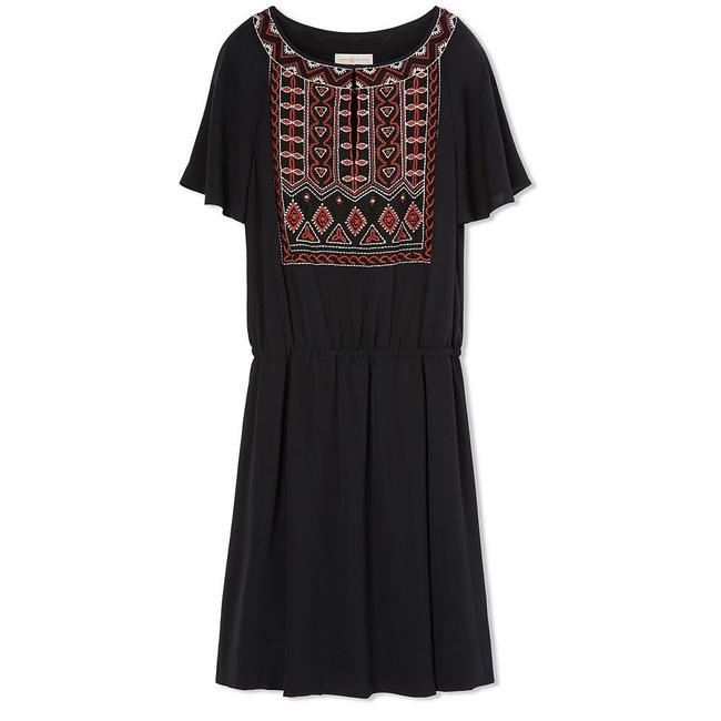 Preload https://img-static.tradesy.com/item/23209340/tory-burch-black-embroidered-bristol-silk-short-casual-dress-size-10-m-0-0-650-650.jpg