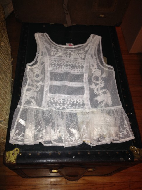 Lilka Lace Shell Camisole Embroidered Top Off White Image 1