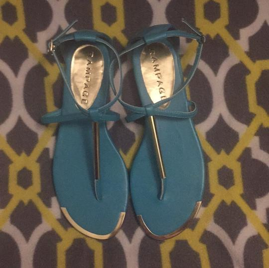 Rampage Turquoise Sandals Image 2