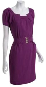 Diane von Furstenberg short dress Berry Poplin Beda Belted on Tradesy