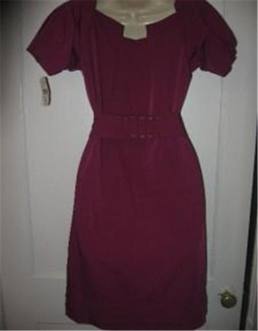 Diane von Furstenberg short dress Berry Poplin Beda Belted on Tradesy Image 6