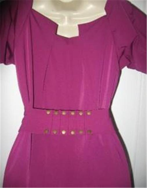 Diane von Furstenberg short dress Berry Poplin Beda Belted on Tradesy Image 7