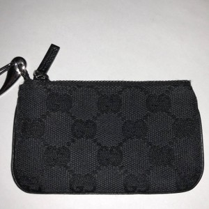 da4752a895b1 Gucci Black Key Pouch Card Case Coin Purse Keychain Wallet - Tradesy