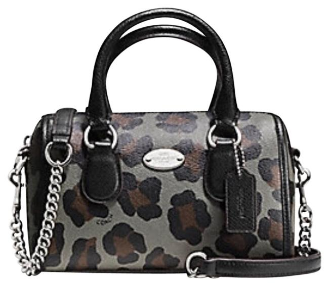 Coach Bannett Ocelot Print Leather F36449 Satchel Coach Bannett Ocelot Print Leather F36449 Satchel Image 1