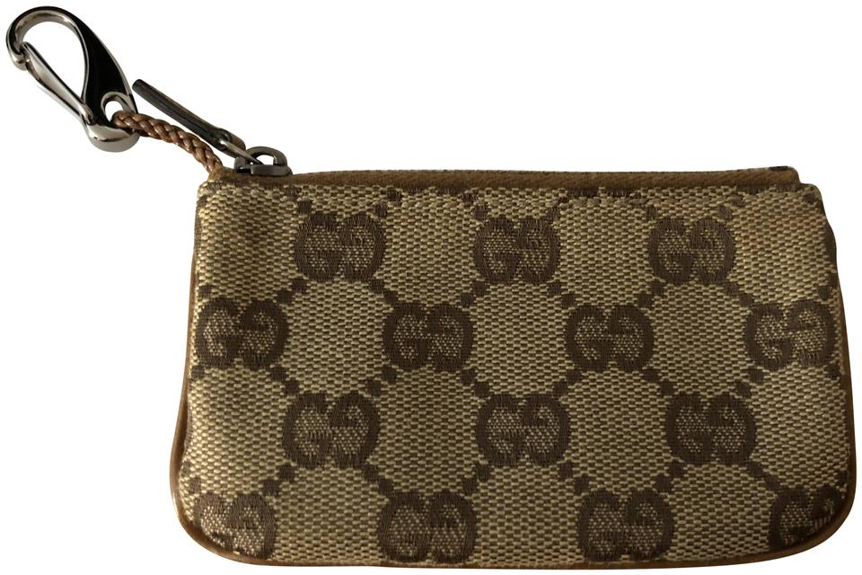 09180051511 Gucci Brown Key Pouch Card Case Coin Purse Keychain Wallet - Tradesy