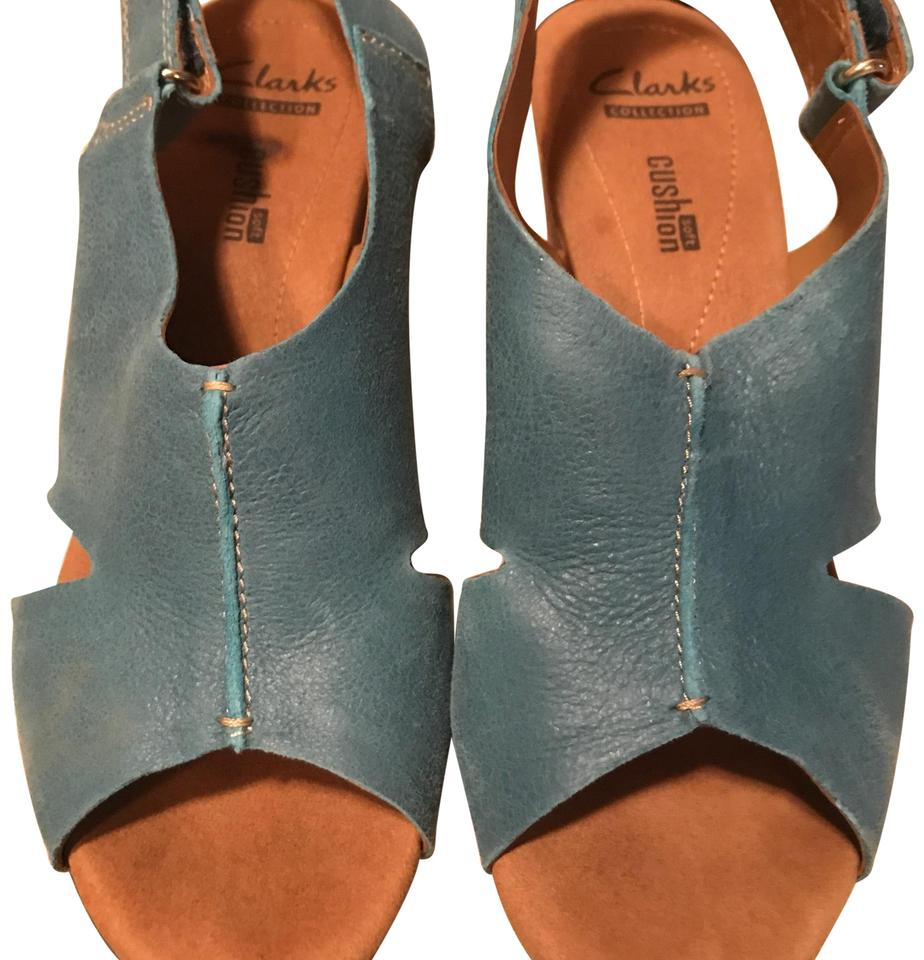 fa91e7fc0 Clarks Turquoise Wedges Pumps Size US 7.5 Regular (M