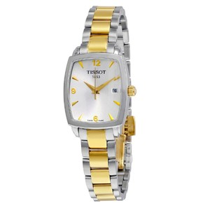 Tissot Swiss Made Two-Tone Arabic Numerals Silver Dial Two-tone Watch