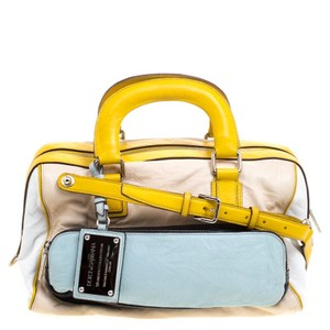 Dolce&Gabbana Dolce And Gabbana Leather Miss Pocket Satchel in Multicolor