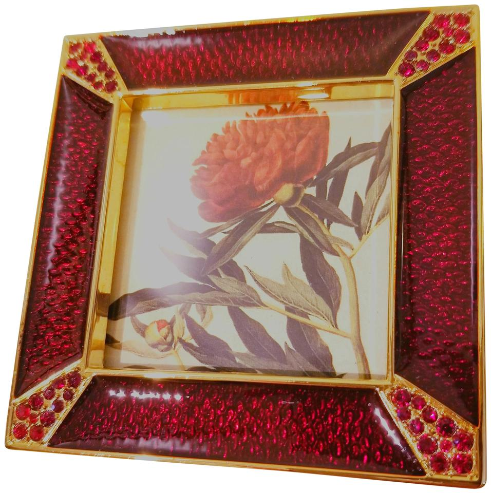Jay Strongwater Red Enamel Picture Frame - Tradesy