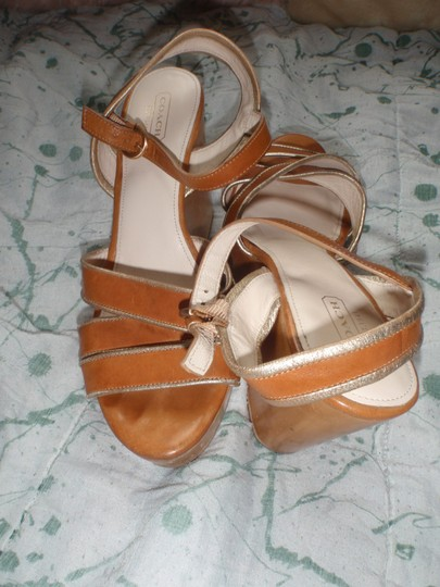 Coach brown Wedges Image 6