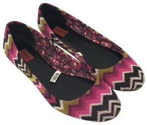 Missoni for Target Fuschia, Black, Olive multicolor. Flats