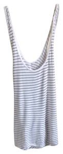 Gap Top White With Black Stripes.