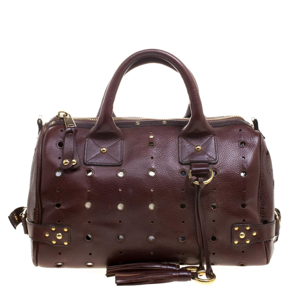 Leather Jacobs Satchel Marc Brown Perforated 0wn6xYqgS