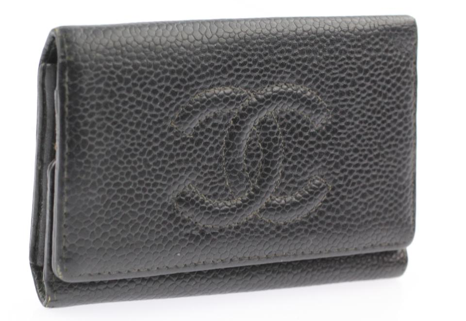 1019bd958557 Chanel Black Timeless 6 Key Holder Wallet - Tradesy
