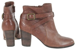 Cole Haan Buckle Leather Brown Boots