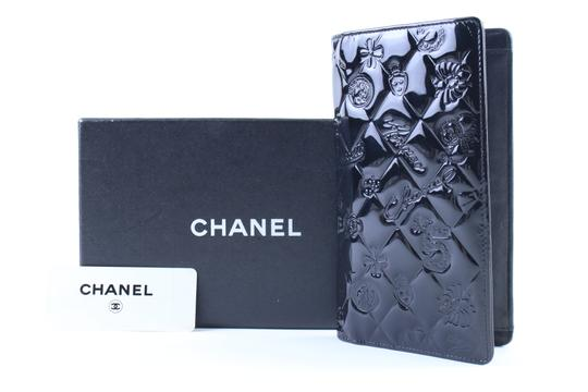 Chanel Bifold Quilted Caviar Enamel Limited Edition Black Clutch Image 11