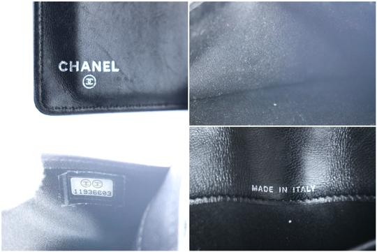Chanel Bifold Quilted Caviar Enamel Limited Edition Black Clutch Image 2