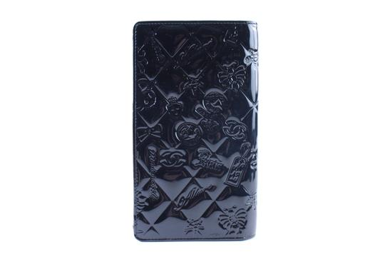 Chanel Bifold Quilted Caviar Enamel Limited Edition Black Clutch Image 5