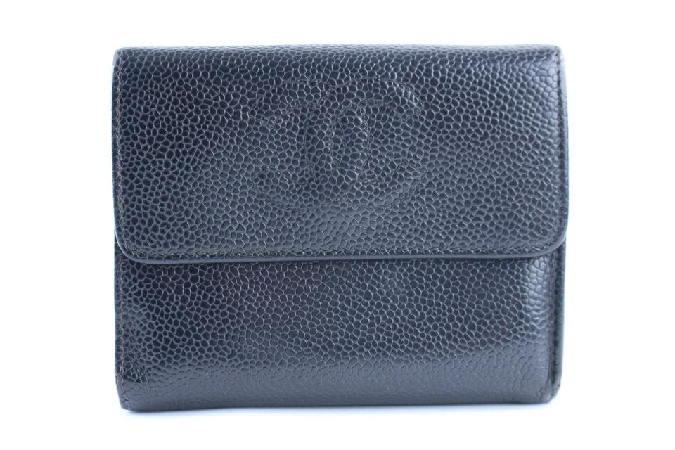 24cd2203f45c Chanel Caviar Wallet Cc Wallet Square Wallet Bifold Flap Wallet Black  Clutch Image 0 ...