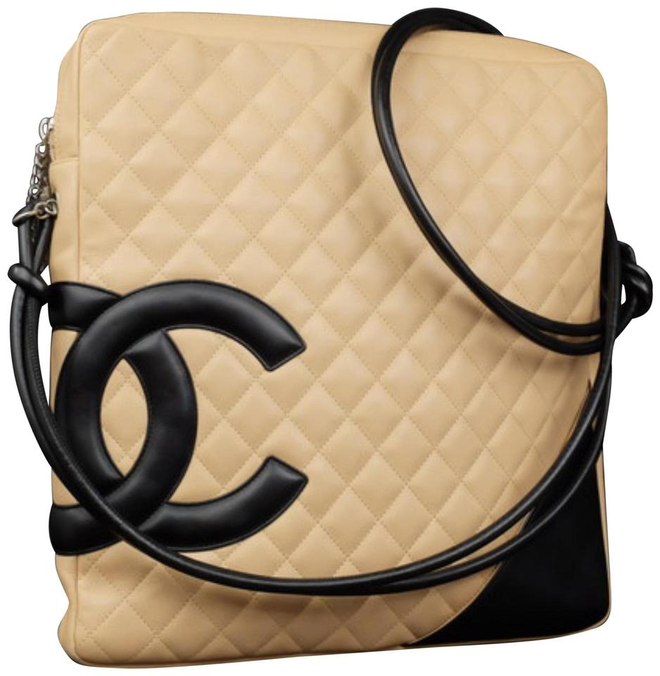 a58821bcf436 Chanel Messenger Cambon Extra 227178 Beige Quilted Leather Cross ...