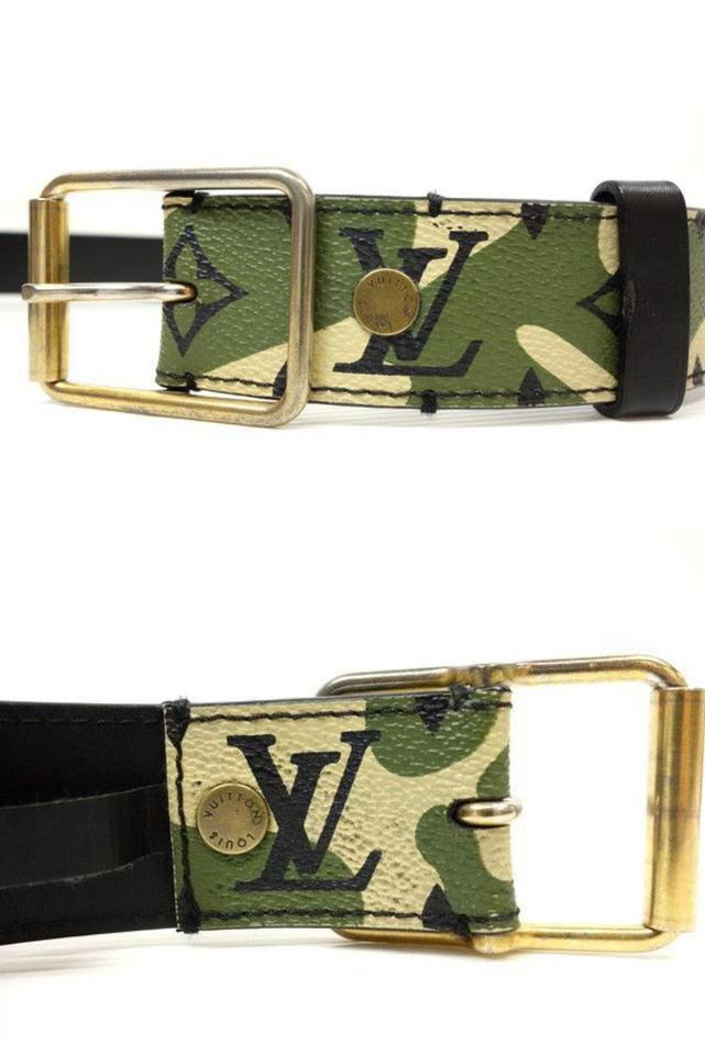43c8cd2675e1 Louis Vuitton (ULTRA RARE) Camo Monogram Monogramouflage Belt 227179 Image  9. 12345678910