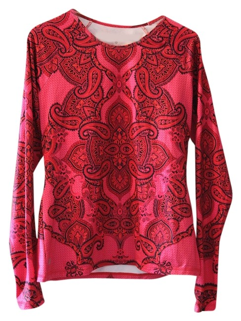 Item - Red and Pink Active Sports Sporty Activewear Top Size 16 (XL, Plus 0x)