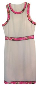 Pim + Larkin short dress ivory with pink floral detail on Tradesy