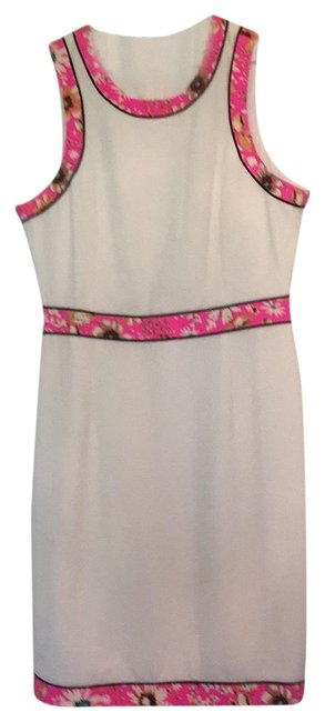 Preload https://img-static.tradesy.com/item/23210401/pim-larkin-ivory-with-pink-floral-detail-fun-summer-short-casual-dress-size-12-l-0-2-650-650.jpg