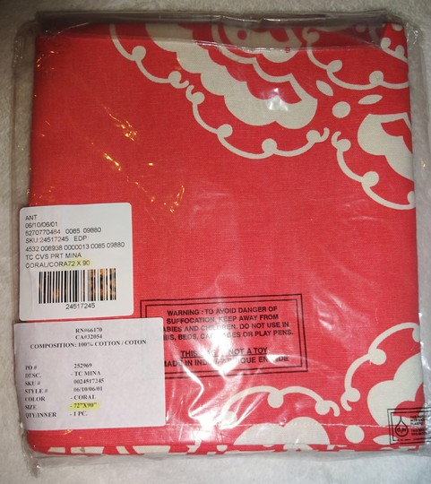 Anthropologie Coral / White Mina Tablecloth Other Image 4