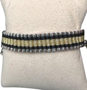 Links of London Links of London Sterling Friendship bracelet with black and gold cord.